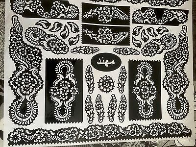 New 2017 Henna Stencil Mehndi Templates Easy To Use Design Indian Style Body Art