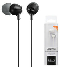 Genuine NEW SONY MDR-EX15LP In-ear Earphone Headphones Buds (Black)