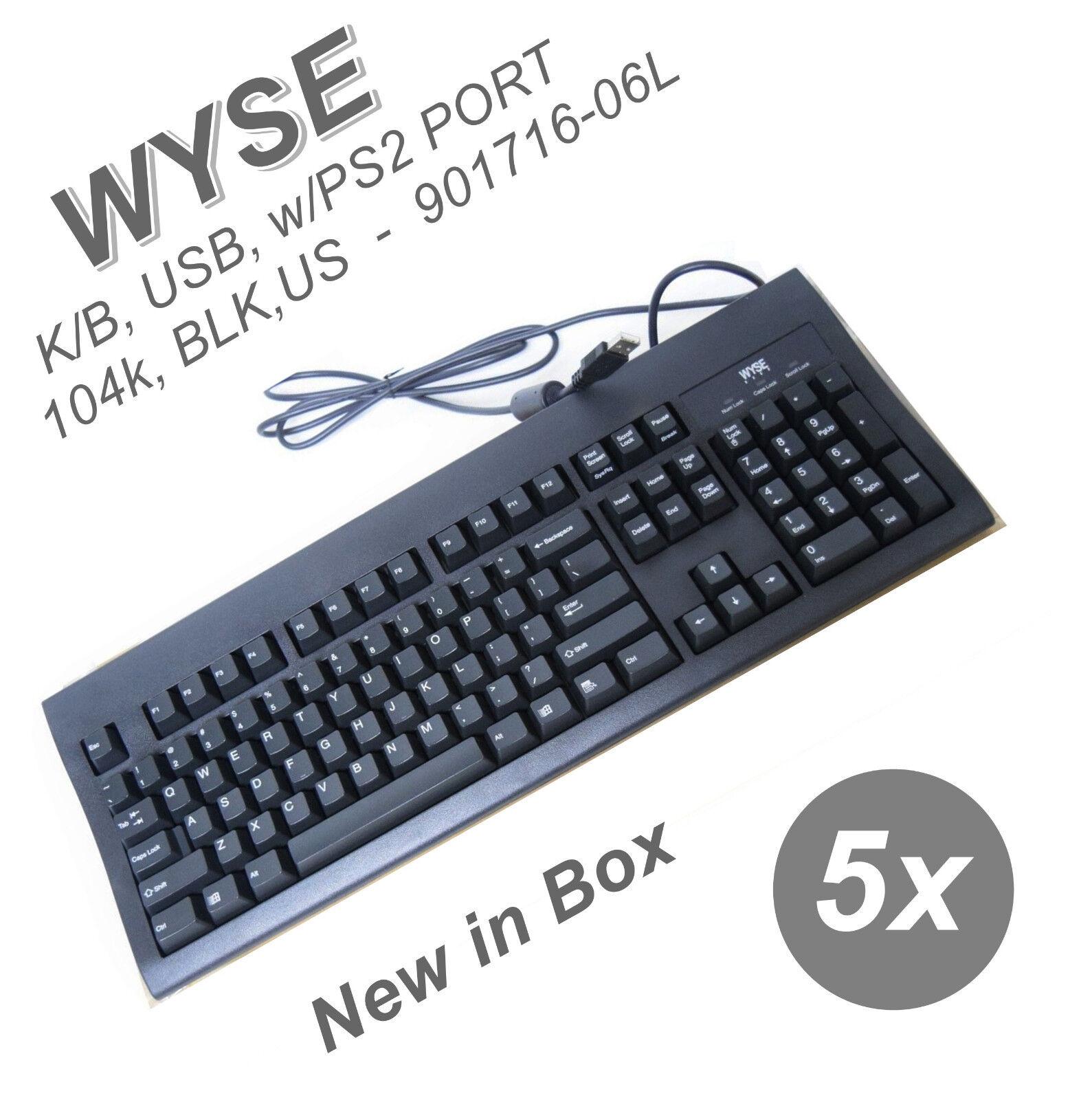 Black USB Keyboard for Windows 901716-06 Ku-8933