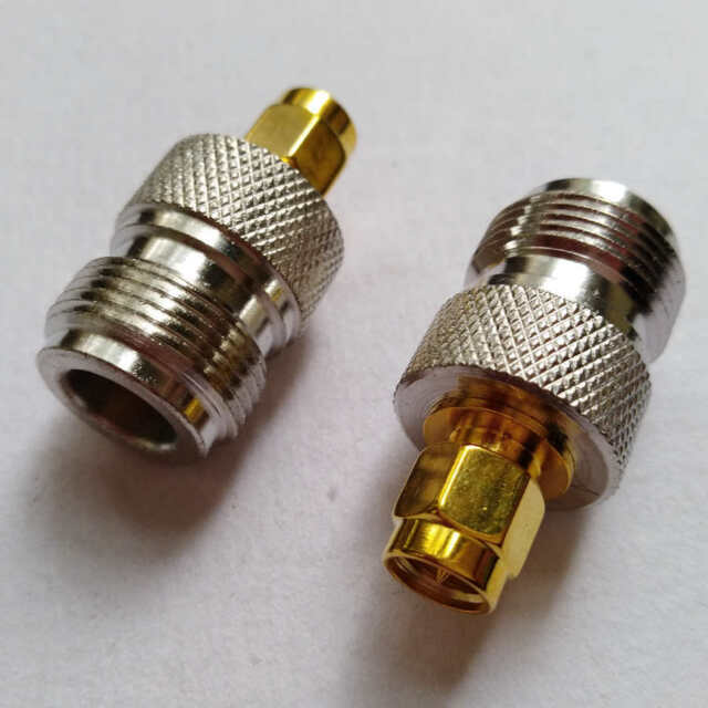 2 x SMA Male to N type female jack Straight RF Coaxial Connector Adapter M606