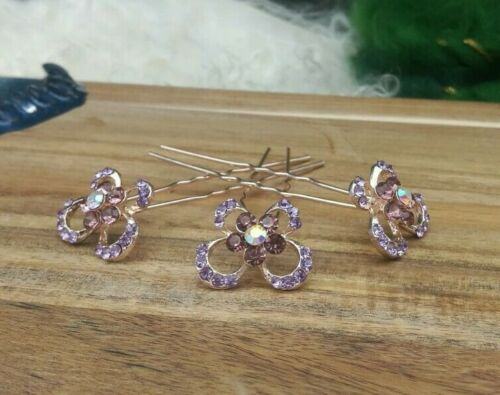 Butterfly hair pin shipped now Silver hair pin Purple pins 4 X Butterfly pin
