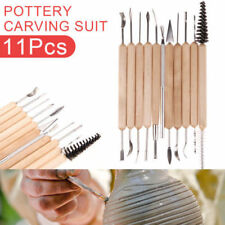11pcs Wood Clay Sculpting Set Wax Carving Pottery Tools Shapers Polymer Modeling