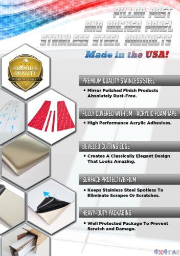 "Stainless Steel 1.5/"" Generic Body Side Molding 4PC Dodge Dakota EXT Cab 05-11"