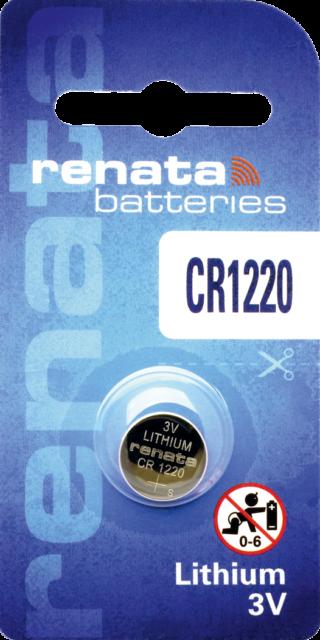 1 x Renata CR1220 Batteries, 3V Lithium, 1220