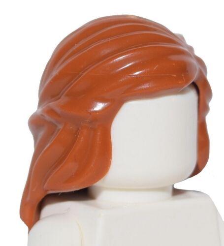 ☀️NEW Lego Minifig Hair Female Girl DARK ORANGE Long Princess Braided