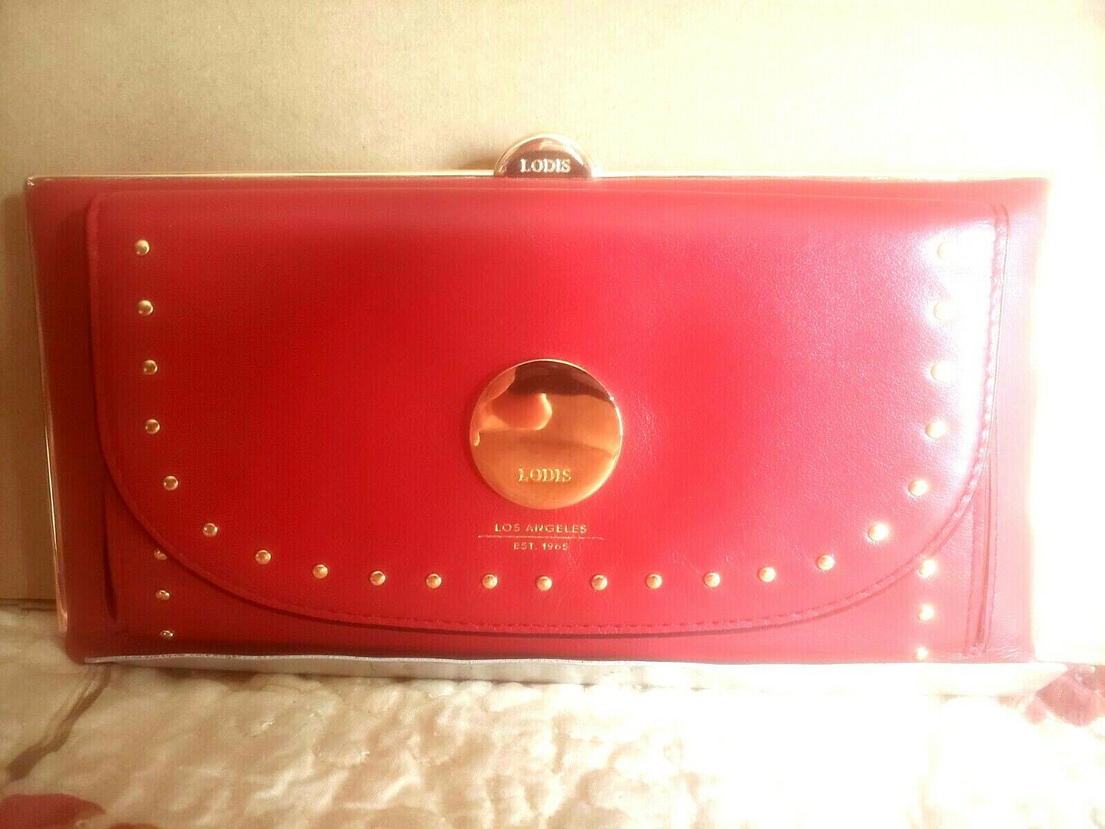 LODIS Ladies Red Italian Leather Wallet - New with Tags & Original Box!