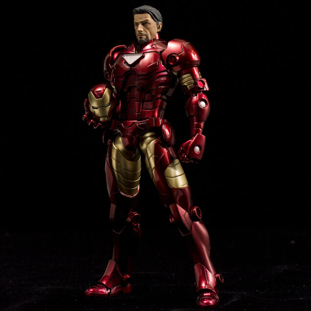SENTINEL ARMORIZE IRON MAN TONY STARK METALLIC COLOR VERSION 18cm PVC DIE-CAST