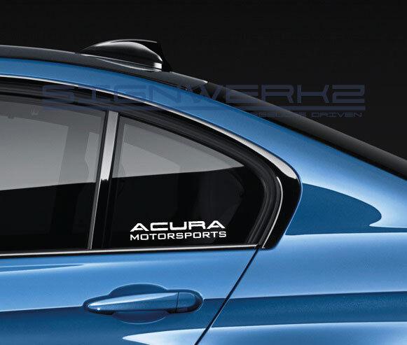 Acura Motorsports Decal Sticker Logo RSX TSX TLX MDX RDX