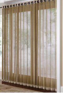 Bamboo Grommet Top Panels For Sliding