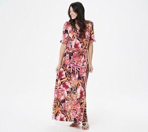 Susan-Graver-Regular-Printed-Liquid-Knit-Maxi-Dress-with-Belt-PINK-1X
