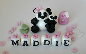 Edible Panda Jungle Animal Zoo Teddy Cake Decoration Birthday Topper