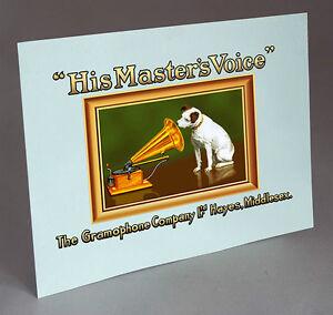 Hmv 157 Model Cabinet Water Slide Decal Gramophone