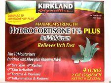 4 (2 oz) Tubes Kirkland Maximum Strength Hydrocortisone 1% Anti-Itch Cream