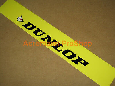 Auto Car Front Rear Windshield Banner Decal Vinyl Sticker Adhesive For DUNLOP
