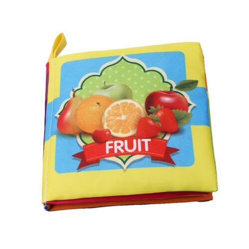 Kids Baby Intelligence Development Cloth Learn Cognize Book Educational Toy DS