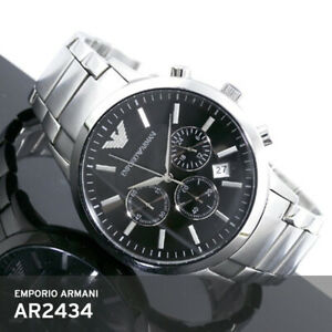 Emporio-Armani-AR2434-5ATM-43m-Black-Chronograph-Japan-Quartz-Stainless-Band-EMS