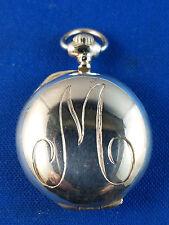 Tiffany & Company Sterling Silver Locket Dated 12/25/1990 Monogram Scroll M