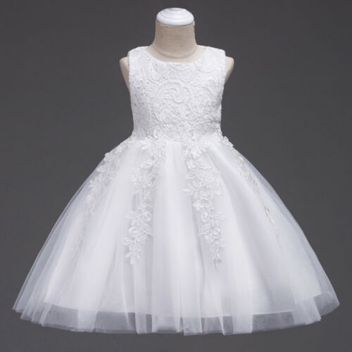 Flower Girl Pageant Party Wedding Formal Bridesmaid Princess Lace Dress for Kid