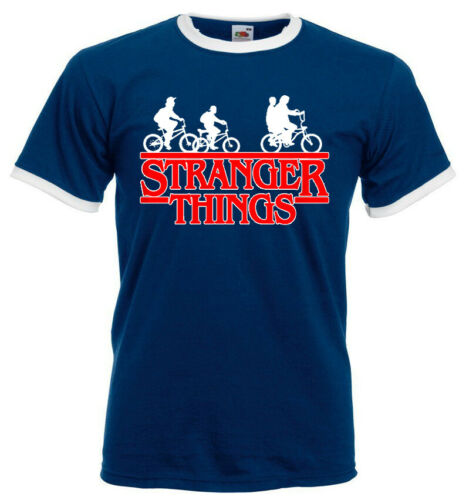 Stranger Things Fashion Funny Mens Novelty Ringer T-Shirt Short Sleeve Top Tees