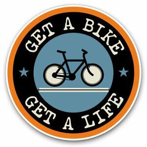 2-x-Vinyl-Stickers-15cm-Get-A-Bike-Mountainbike-Biker-Cycle-Cool-Gift-5103