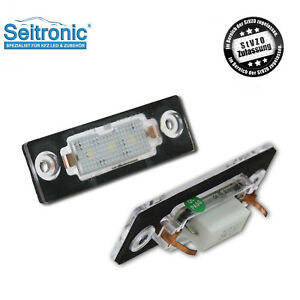 Iluminacion-de-la-matricula-de-LED-VW-t5-t6-Passat-3c-b6-caddy-Touran-golf-plus-Skoda