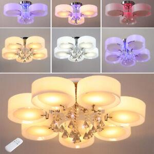 Details about LED Crystal Ceiling Light Chandelier Lamp Kitchen Bed Modern Living room Lights