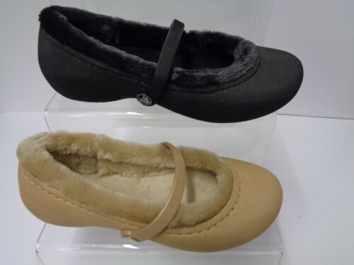 Gold Faux Fur Lined Crocs Dolly Shoes Nanook Girls Girls Black
