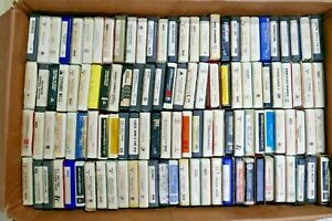Mixed Lot of 114 ~ 8 Track Tapes. Rock and ETC Eagles, Kenny Rogers, DR. Hook
