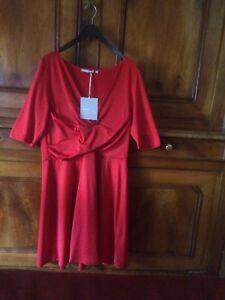 le dernier bda23 bd091 Détails sur Robe 3 Suisses Collection Rouge Taille 46 Neuf Avec Étiquettes