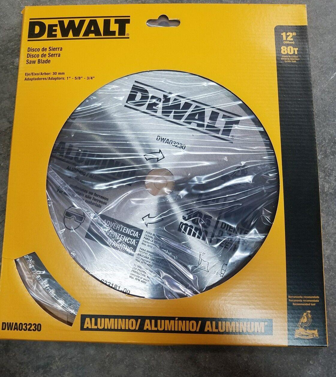 Dewalt DWA03230 Sägeblatt 30.5cm 80 Zähne Aluminum