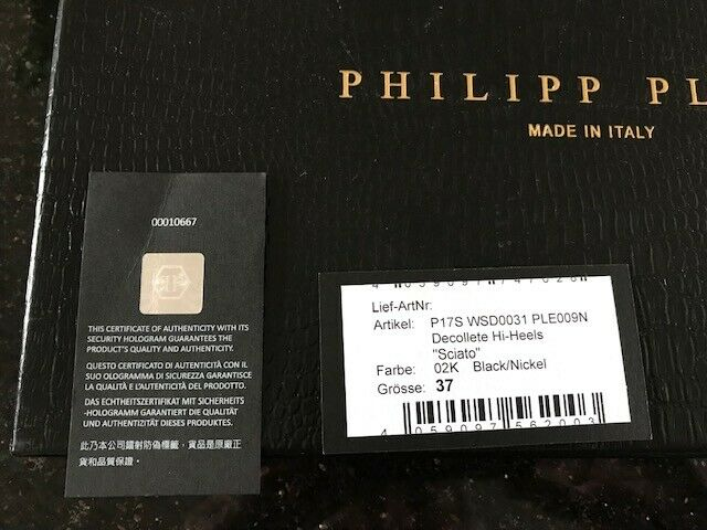 PHILIPP PLEIN PLEIN PLEIN DECOLLETE HI-HEELS  SCIATO  in size EU 37 brand new 6a4410