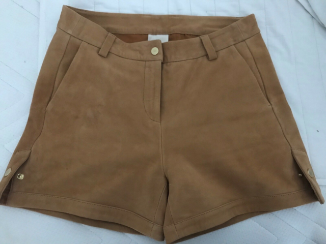 Shorts, Heartmade, str. 36,  Camel,  Skind,  Ubrugt, Super…