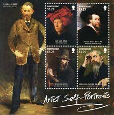 Montserrat 2015 MNH Artist Self Portraits 4v M/S Manet Van Eyck Rubens Hind Art