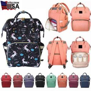 20d221ca8be Details about LEQUEEN Mummy Maternity Nappy Diaper Bag Large Capacity Baby  Bag Travel Backpack