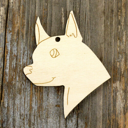 10x Wooden Dog Chihuahua Head Craft Shape 3mm Ply Domestic pet animals