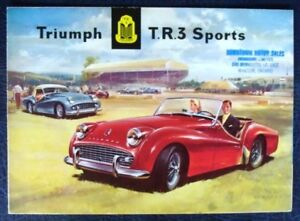 Triumph Tr3 Sports Export Edition Sales Brochure March 1958 Ebay