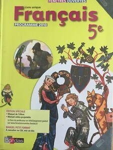 Details Sur Francais 5eme Bordas Livre Unique Fenetres Ouvertes Cd Isbn 978 2 04 732710 4