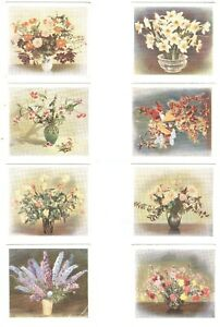 1937-Flower-Studies-Godfrey-Phillips-Complete-Tobacco-Card-Set-of-30-cards-lot