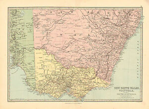 Map Of Nsw And Victoria Australia.Details About 1880 Color Map Of New South Wales And Victoria Australia John Philip Son