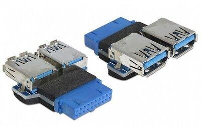 DELOCK USB 3.0 PINHEADER ADAPTER 19 P. PFOSTENLEISTE AN 2*A BUCHSE NEBENEINANDER