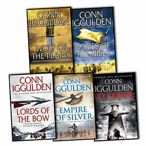 Conn-Iggulden-Conqueror-5-Books-Collection-Set-Wolf-Of-The-Plains-Khan-Dynasty