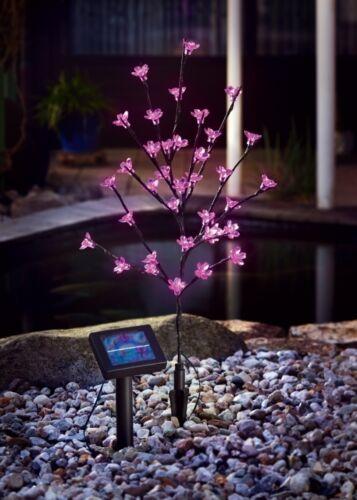 2er Set LED Solar Dekoleuchte Blütenstrauch Gartendekoration Gartenleuchte Lampe