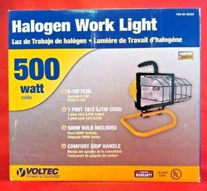 Voltec Portable 500 Watt Halogen Work Light With Floor