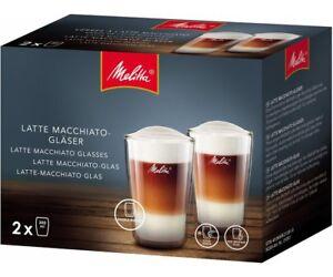 2x-Genuino-Melitta-Latte-Macchiato-vasos-cafe-Cada-Uno-Soporta-300ml-6761118