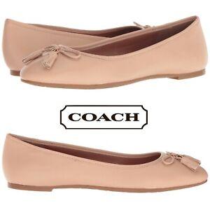 Coach-Bea-Women-039-s-Flats-Casual-Slip-On-Shoes-Walking-Moccasins-Leather-NIB