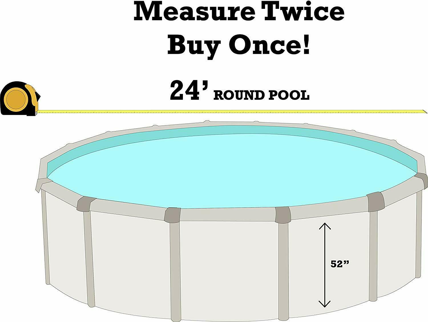 Cabana Boy HD Designs and Vibrant Color Options Round Overlap Above Ground Swimming Pool Liner 24 Foot Pool Liner 25 Gauge Durable Vinyl
