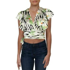 Vince Camuto Womens Tie-Front Iridescent Blouse Button-Down Top Shirt BHFO 6858