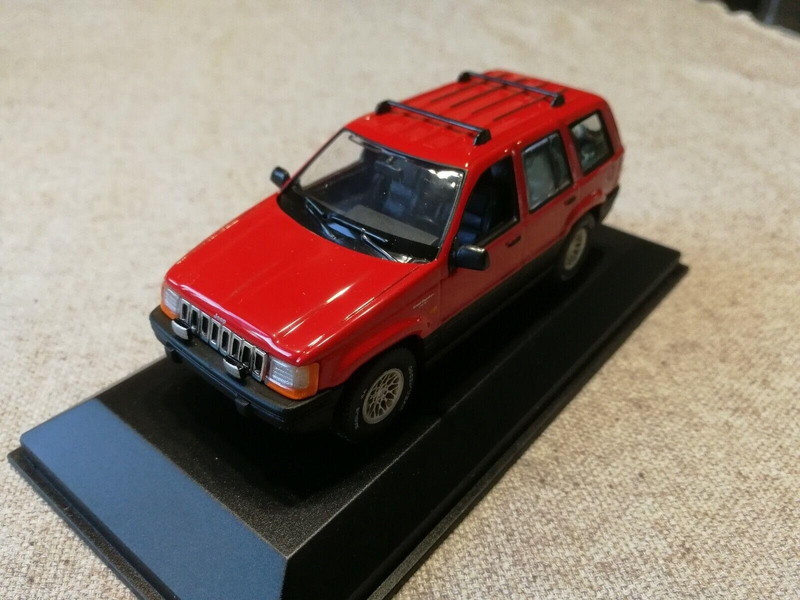 Jeep Grand Cherokee ZJ röd 1992-98 (Minichamps) 1 43 Herregud Rare Herregud