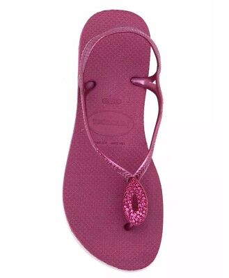 Havaianas Luna Navy Blue /& Silver Flip Flop Sandals Size UK 7//8 Euro 41//42
