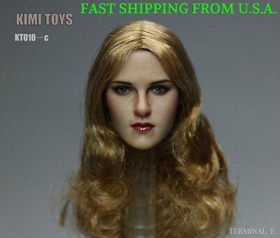 KIMI KT011 A 1//6 Female Head Sculpt Short Hair For Hot Toys Phicen Figure ❶USA❶